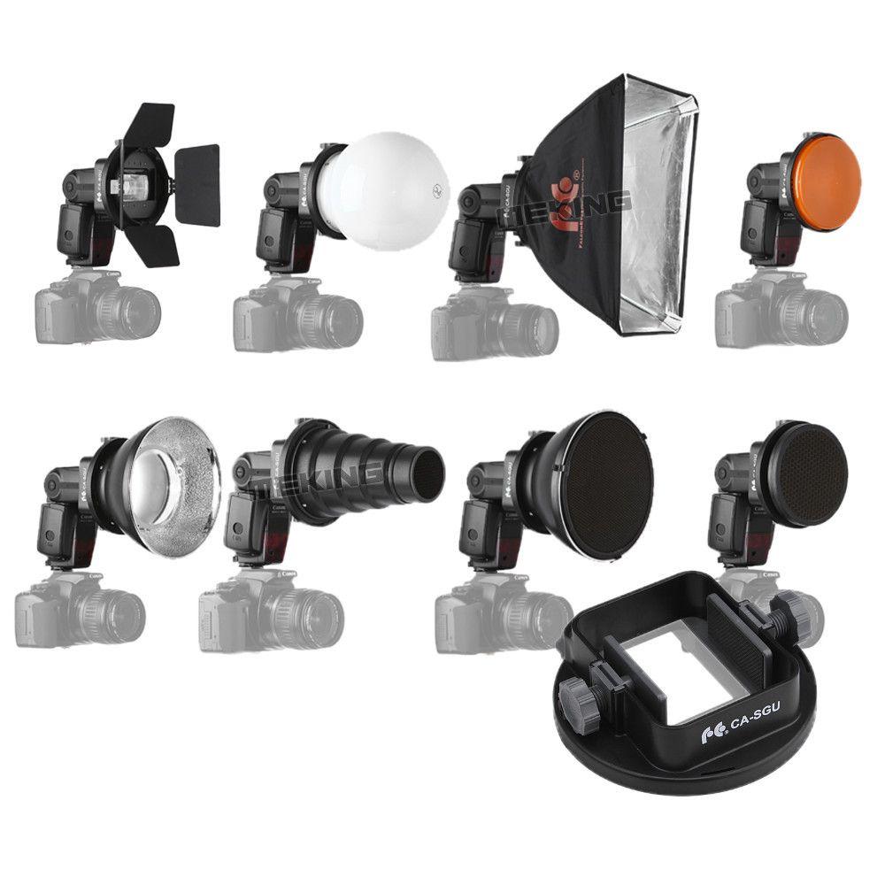Freeshipping Flash Accessories K9 (Barndoor snoot softbox honeycomb beauty disc/ diffuser mount) for speedlite speedlight flash light