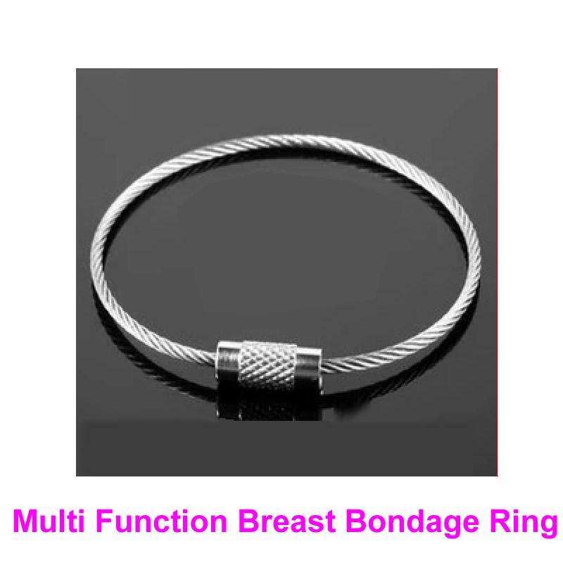 1 paar multi-functie borst bondage ringen vrouwelijke borsten borby terughoudendheid bdsm bondage versnelling fetish sex speelgoed enkel polsbuffs B0316023