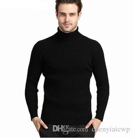 2017 neue Winter Männer Rundhals Pullover Männer Einfarbig Casual Wolle Pullover männer Slim Fit Marke Gestrickte Pullover