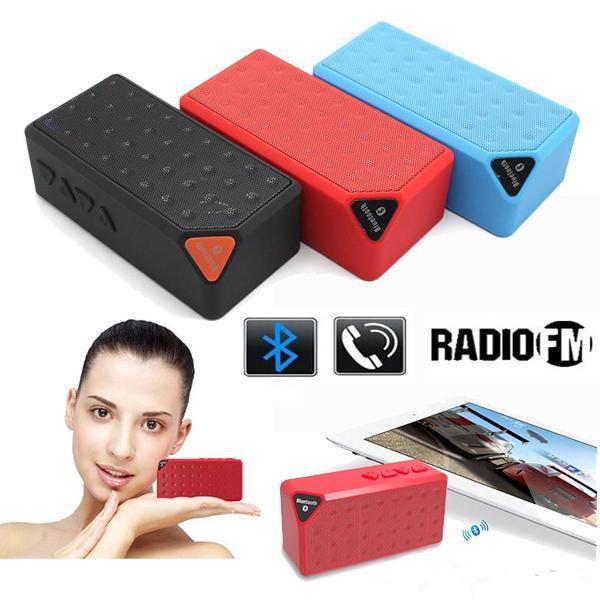 2015 New Mini Colorful LED Flashing Pulse X3S Bluetooth Speaker Portable Wireless Handsfree X3 Speakers TF FM Radio Subwoofer 50pcs Free DHL