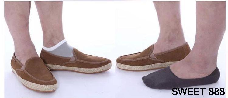 Calcetines del holgazán de los hombres al por mayor 10 pares calcetines de algodón ocasionales de la manera Clásico varón breve pantuflas invisibles boca baja No Show calcetín w017