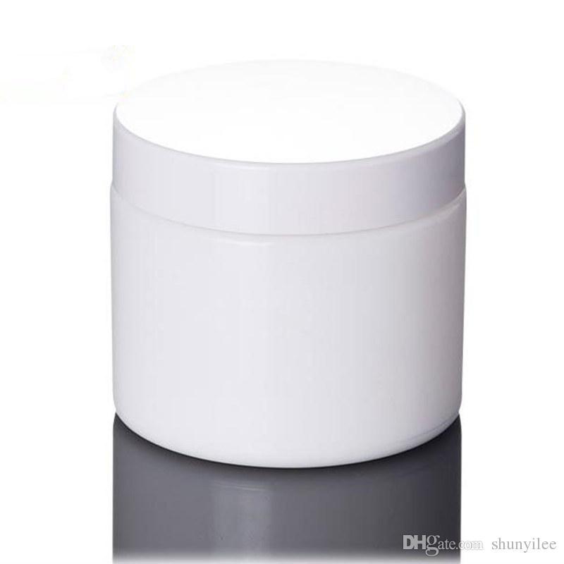 100 г Белый стеклянная банка, косметическая стеклянная бутылка, макияж крем бутылка с белой крышкой быстрая доставка F20172380