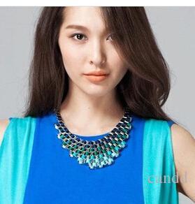 Nieuwe collectie mode hand weven dame ketting persoonlijkheid sieraden 2 kleuren min.order $ 15 mix order n