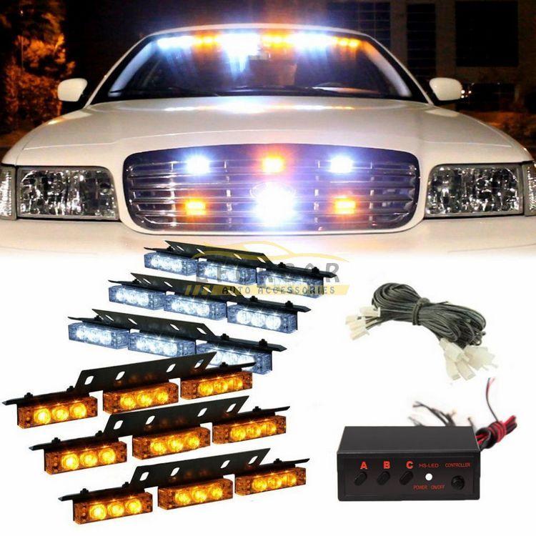 Vehicle Strobe Lights >> 54 Led Truck Car Vehicle Strobe Warning Light Lightbars For Deck Dash Grill Windshield Headliner White Amber Or Amber Led Vehicle Lights Led Vehicle