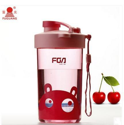 FUGUANG 380ML الأطفال لطيف خنزير الكرتون مع قطرة مانعة للتسرب قطرة لا رائحة كوب حليب الشاي القهوة المحمولة