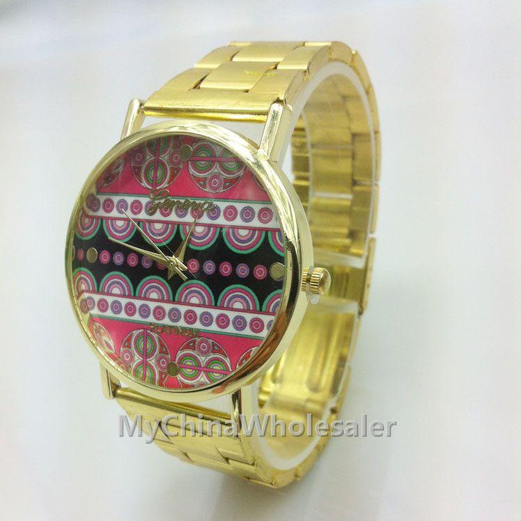 스테인레스 여성 시계 패션 골드 석영 빈티지 중국어 국립 세관 서클 라운드 마크 DesignWomen 명품 손목 시계