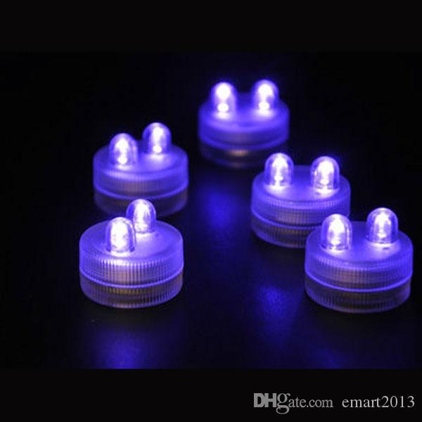 Super helle 24units / lot wasserdichte tauchfähige geführte Teelichter als Hochzeits-Mittelstückdekorationen Akzent-Hochzeitslichter