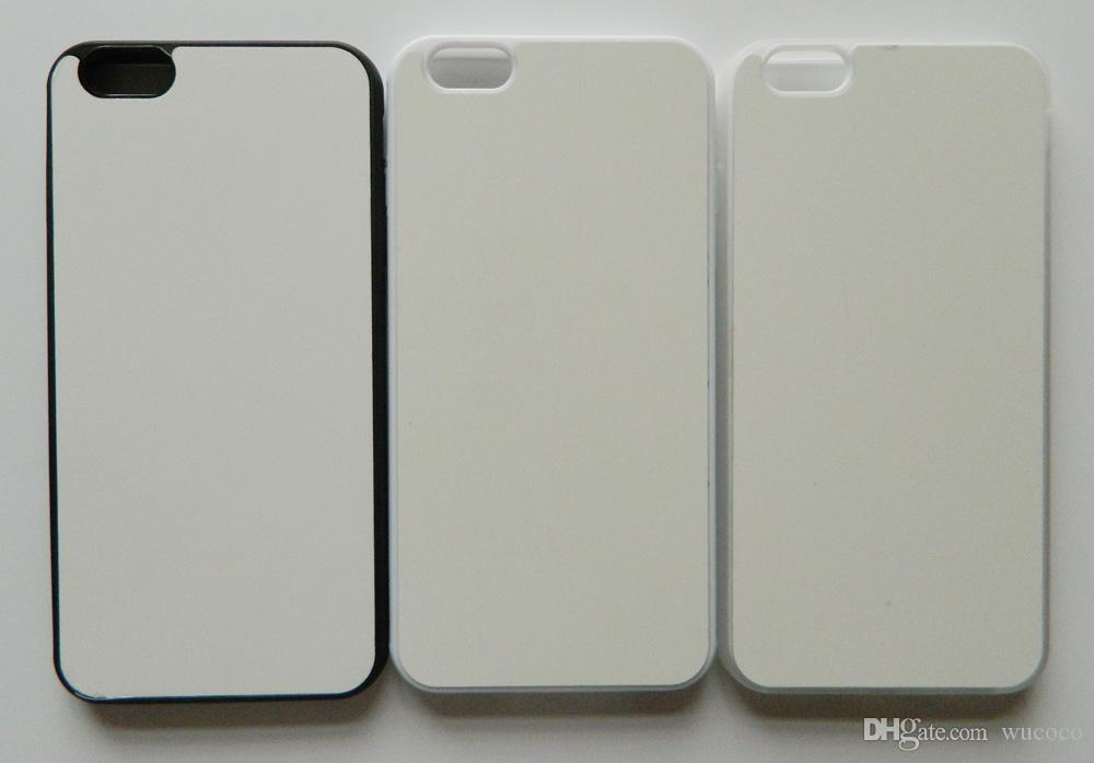 For iphone 6 plus 2d Rubber TPU sublimation case with blank printable aluminium plate 100pcs/lot