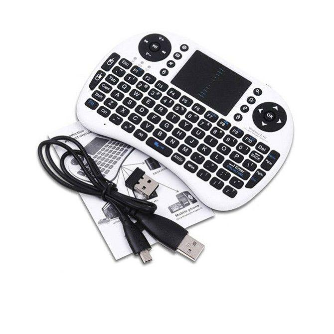 Rii i8 Remote Fly Mouse Mini teclado inalámbrico Teclado con Touchpad 2.4G para MXQ MXIII MX3 M8 CS918 M8S Bluetooth TV BOX Negro 10pcs