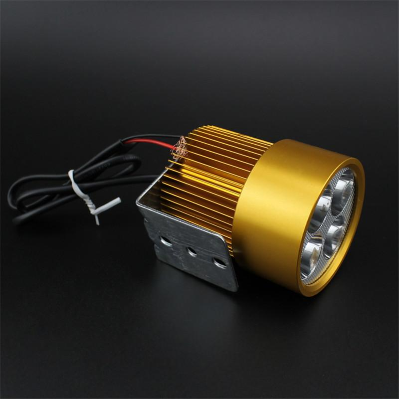 Shipping electric motorcycle LED headlamp waterproof super bright laser cannon headlights flashing lamp light bulb