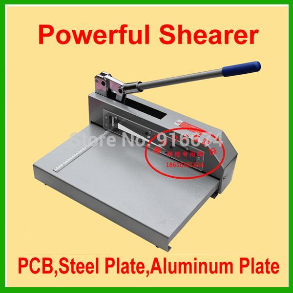 سريع شحن مجاني قوي القص سكين رقة القاطع pcb مجلس الصلب لوحة شيرر قطع ورقة الألومنيوم آلة القطع