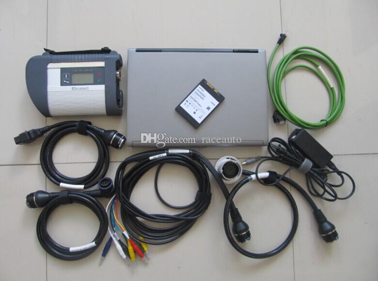 توصية للغاية أداة تشخيص MB ستار C4 SD اتصال مدمج 4 + D-AS XE-NTRY 2021.06V 360GB SSD + كمبيوتر محمول ل D630 4G