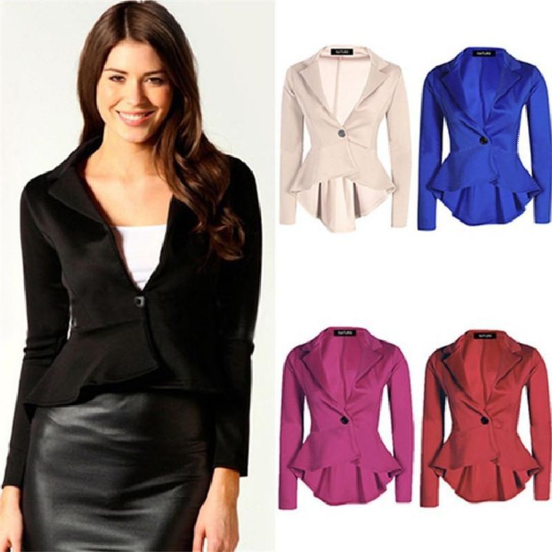 NEW Spring Autumn Women Summer Style Blazer Europe Slim Dovetail Irregular Suit OL Jacket Women Plus Size Feminino Short Blazers 5Colors
