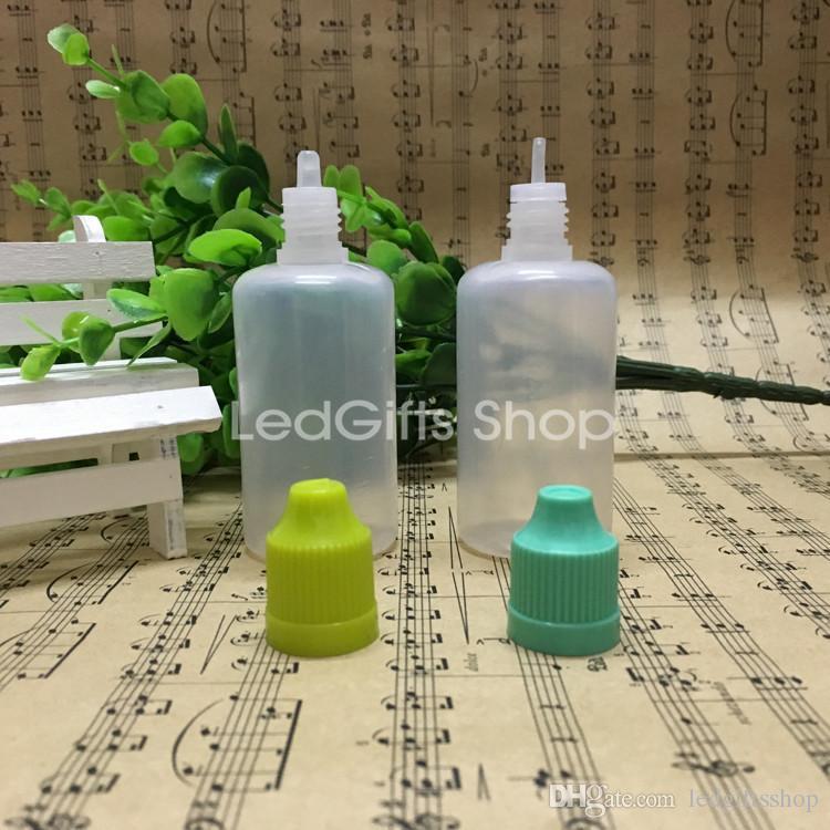 الجملة زجاجات الصين المورد حار بيع زجاجات البلاستيك LDPE 5000pcs / lot مع بالقطارة ، زجاجة فارغة السائل سيج 50ML