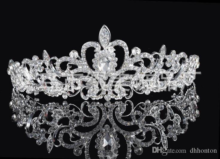birdal crowns New Headbands Hair Bands Headpieces Bridal Wedding Jewelries Accessories Silver Crystals Rhinestone Pearls HT06