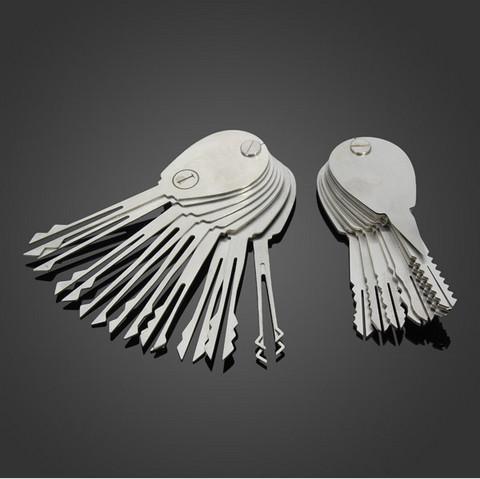 20psc Foldable Opener Lock Double Sided strumenti di picking Lock Pick Set attrezzi del fabbro