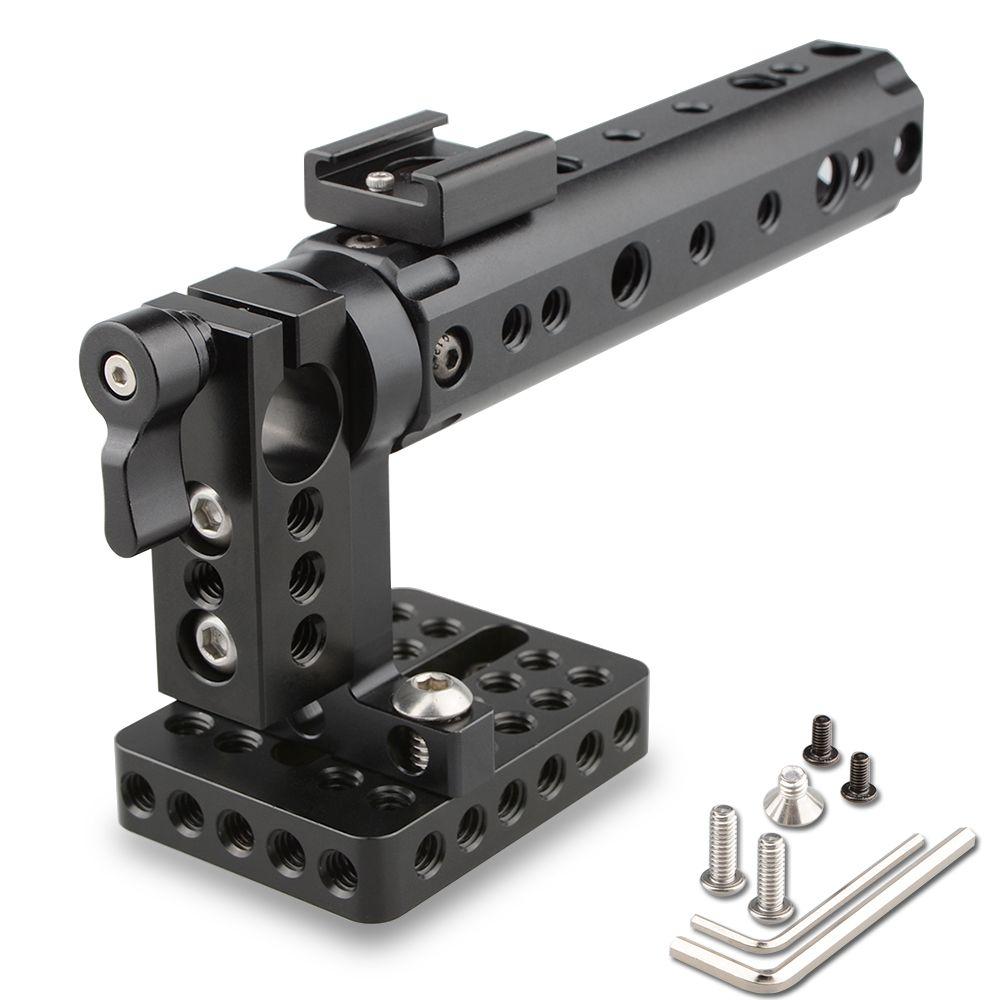 CAMVATE Camera DSLR Top Handle Rig w/Plate Rod Clamp Cold Shoe fr Canon Nikon Panasonnic