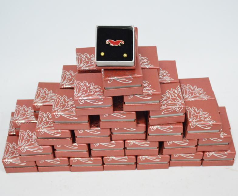 100pcs/Lot Wholesale Paper Jewelry Gift Box for Ring Packaging Organizer 5*5*3.5(CM)