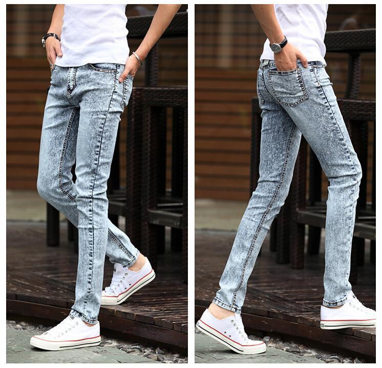 Casa bacetto vantaggioso  2020 2015 Spring New Mens Black Skinny Jeans Fashion Slim Fit Snowflake  Cowboy Feet Pants Mens Pencil Pants 27 36 From Minicon, $22.85   DHgate.Com