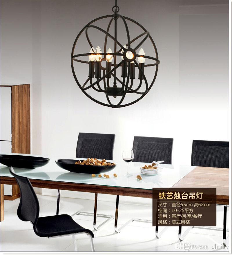 ... Loft Amerikanischen Stil Retro Nordischen Jahrgang Pendelleuchte Eisen  Industrielle Hängelampe Wohnzimmer Esszimmer Leuchte Lampe