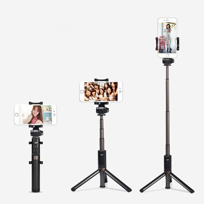 New Stryle Selfie Stick + Stative + Bluetooth-Timer Selfie Einbeinstative Erweiterbar Self Portrait Selfie Handheld Stick Fernauslöser