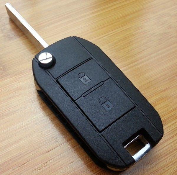 2015新しい空白のキーケースHU83ブレードのためのブレードの修正307 2ボタンの修正フリップのリモートキーシェルグルーブブレード