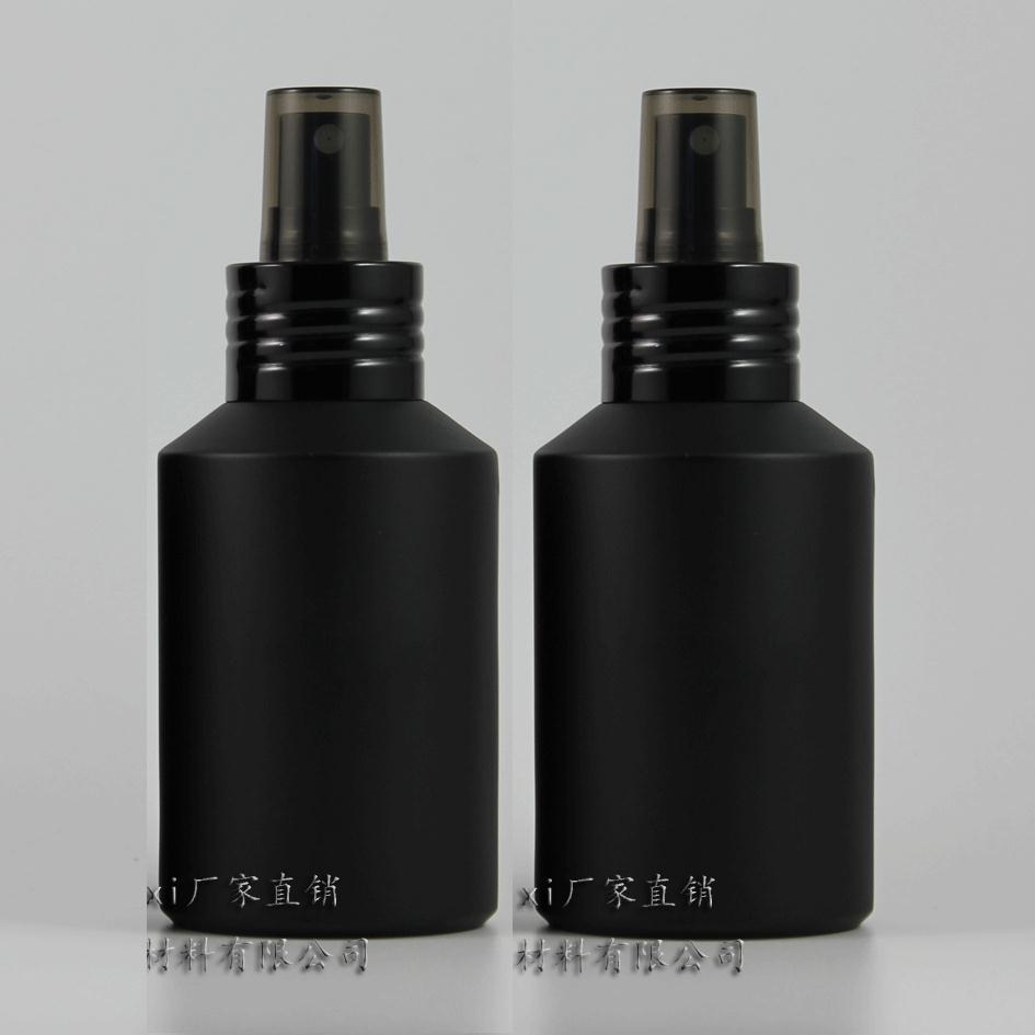 블랙 알루미늄 펌프, 화장품 포장, 화장품 병, 액체에 대한 포장과 125ml 검은 서리로 덥은 유리 로션 병
