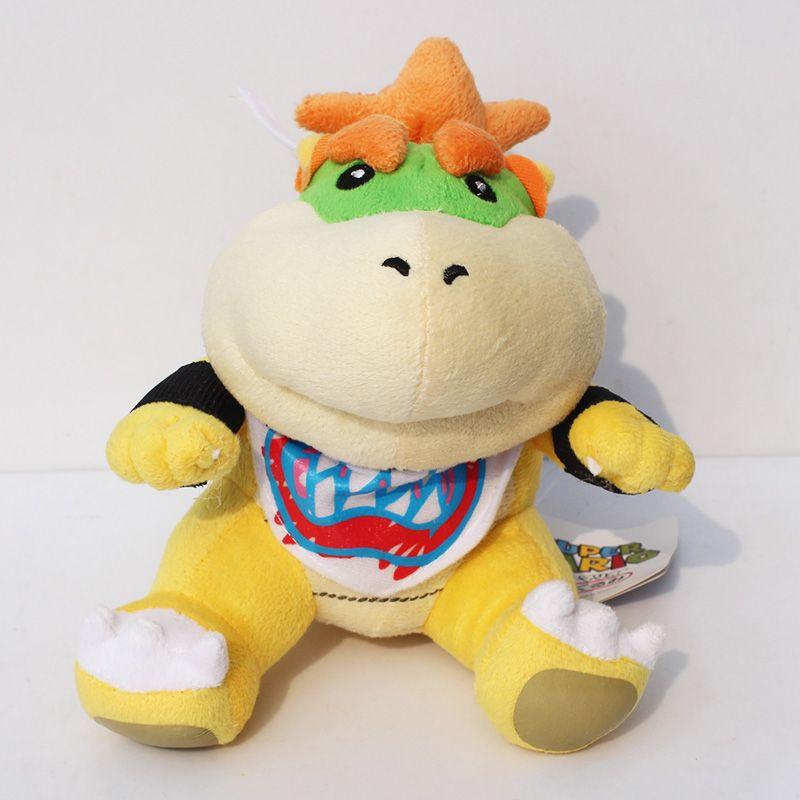 """Super Mario plush Toys Bowser JR Plush Doll 7"""" Free Shipping"""