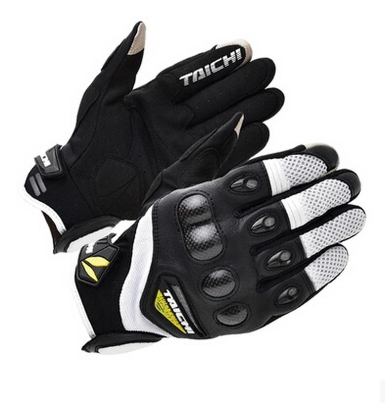 2016 New RS-TAICHI RST 418 spring summer short paragraph motorcycle racing gloves carbon fiber mesh motorbike glove size M L XL
