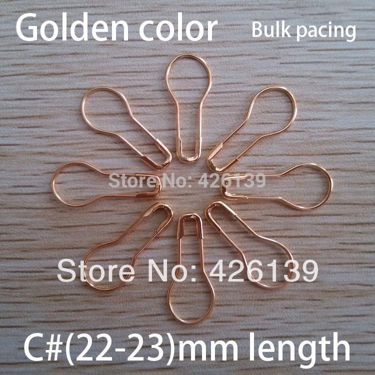 도매 무료 배송 1000pcs / lot C # 22mm 길이의 금속 배 모양 골드 안전 핀 스틸 브로치 핀 4 가지 색상 선택