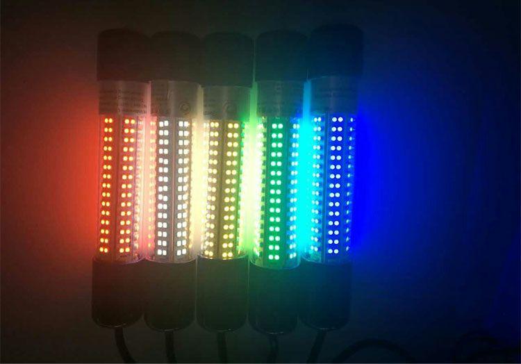 붉은 색 8W LED 수 중 오징어 낚시 빛 유혹 잠수함 낚시 보트 빛 야간 낚시 낚시를 끌어 태클