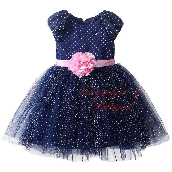 2018 Pettigirl Fashionable Navy Girls Ball Gown Dress Decorated With ...