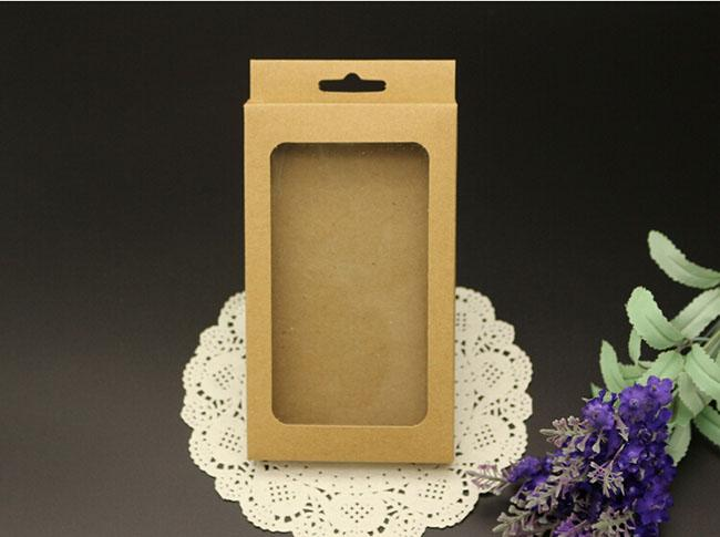 Kein Druck leer Kleinpaket Taschen Handy Fällen benutzerdefinierte Kraftpapier Verpackung Verpackung Box für iPhone 4 5 6 Galaxy S3 S4 Hinweis 2 3