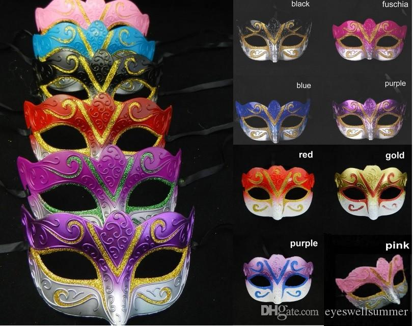 Maschere in feste in maschera, Maschera veneziana maschera di Halloween sexy carnevale ballo mascherina cosplay di colore della miscela del regalo di nozze fantasia