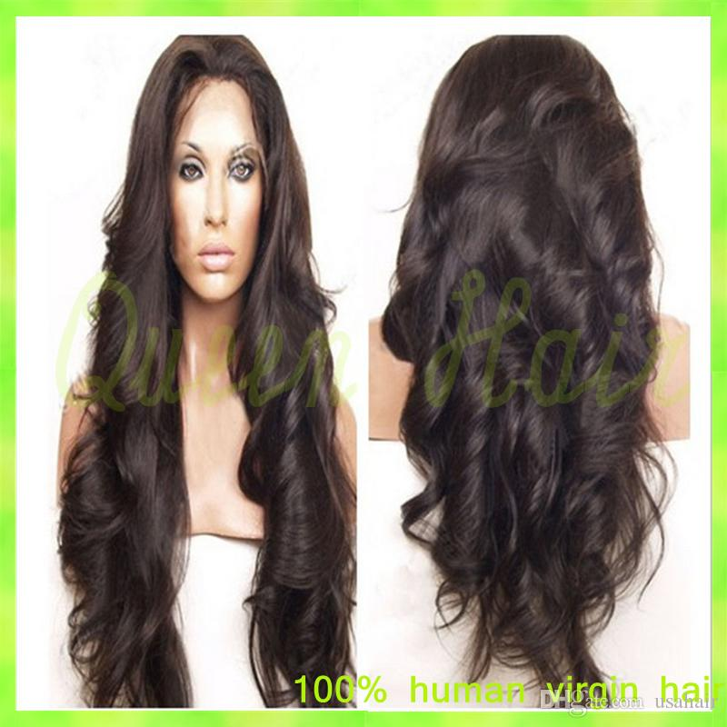2015 Fashion Style Virgin Brazilian Deep Wave Curly Lace Front Wig With Baby Hair Full Lace Human Hair Wigs For Black Women