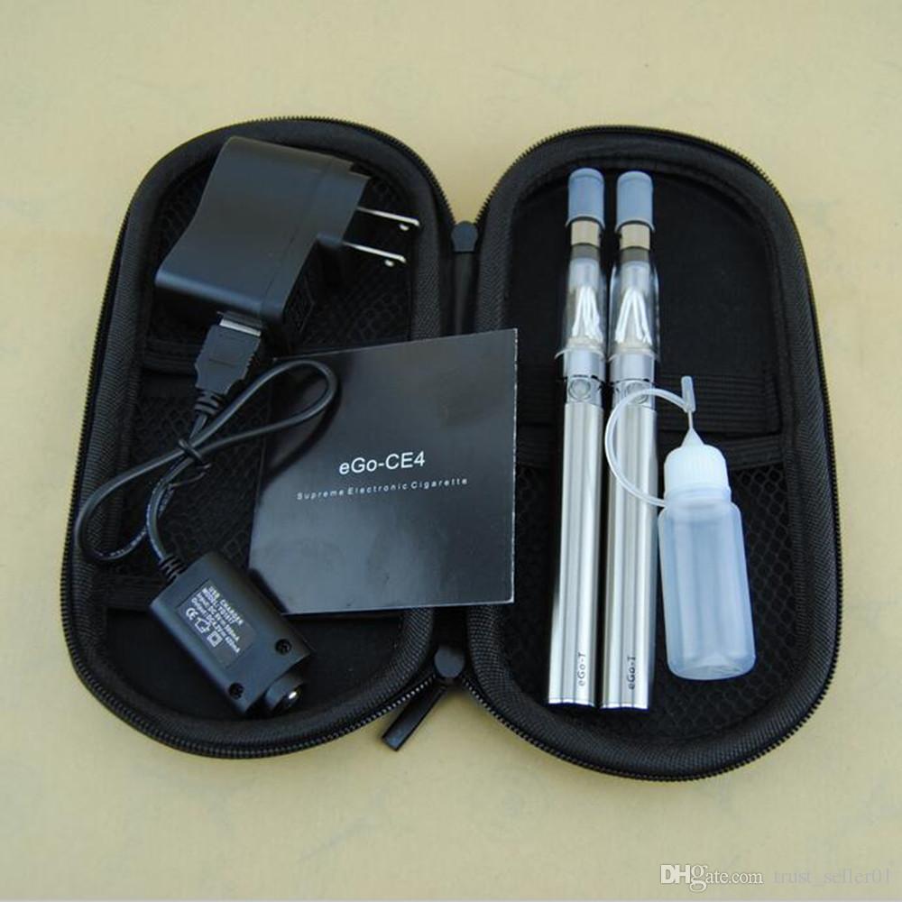 Cigarettes électroniques kits de démarrage double eGo-T CE4 Ego 650 900 1100 mah batterie