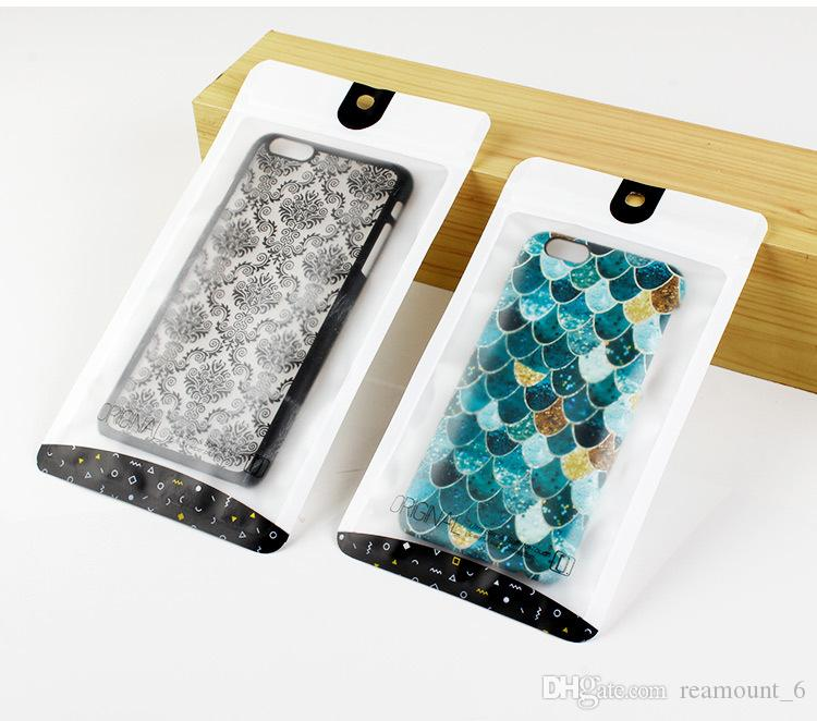 500 pcs Wholesale Packing for Phone Case for iPhone 8 8 Plus X PVC Zip Bags for Samsung s9 Back Cover free shipping