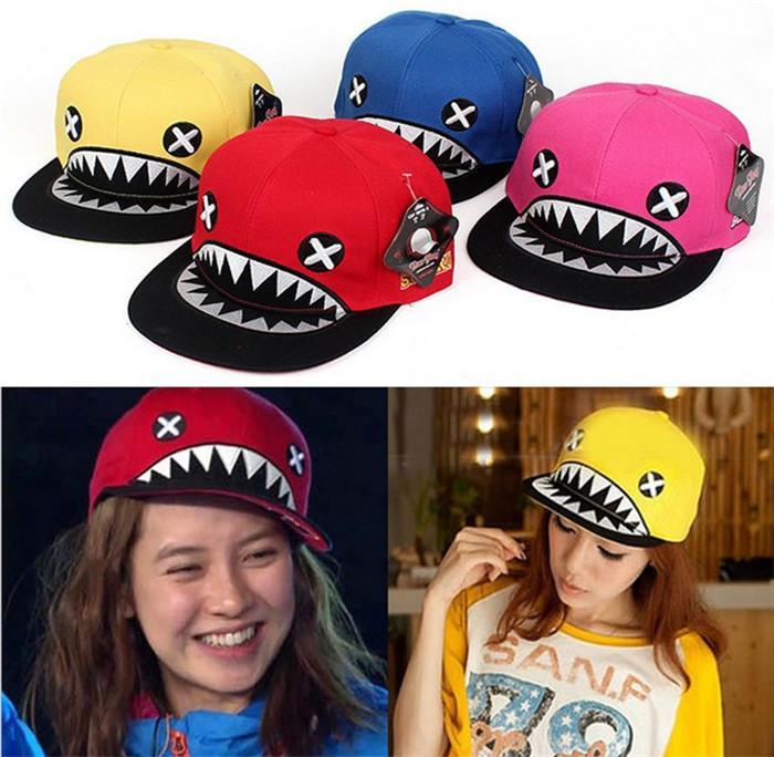 High Quality Canvas Baseball Cap Korean Running Man Song Ji Hyo Multicolor Fashion Hip Hop Xx Eye Shark Tooth Hat Adjustable Size Caps For Men Custom Baseball Hats From H78782507 3 62 Dhgate Com