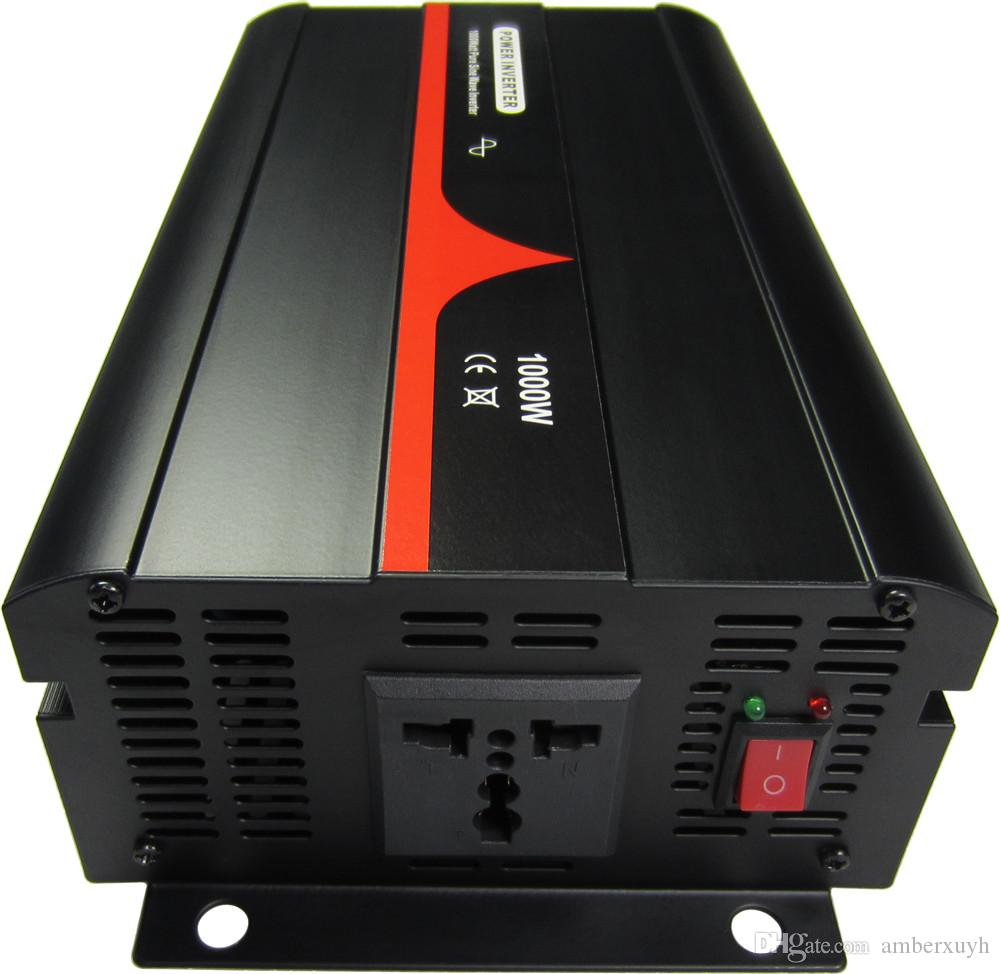 Frete grátis 24VDC para 220VAC 50HZ alemão soquete 1000W Pure Sine Wave Power inversores
