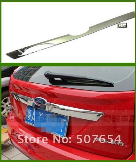 Yüksek kalite paslanmaz çelik araba arka gövde dekorasyon trim, FORD FOCUS 2008-2012 Için arka gövde koruma çubuğu
