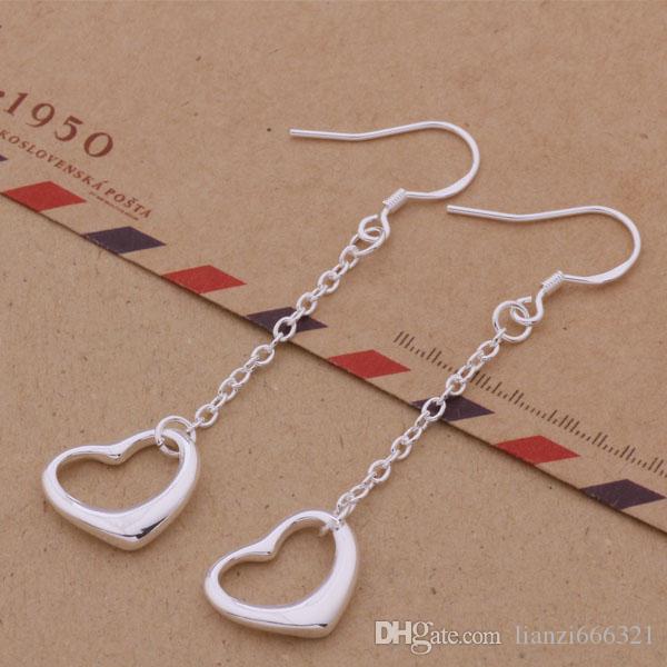 Moda (fabricante de la joyería) 40 piezas mucho colgantes pendientes de un corazón 925 fábrica de joyería de plata de ley Brillo de moda pendientes