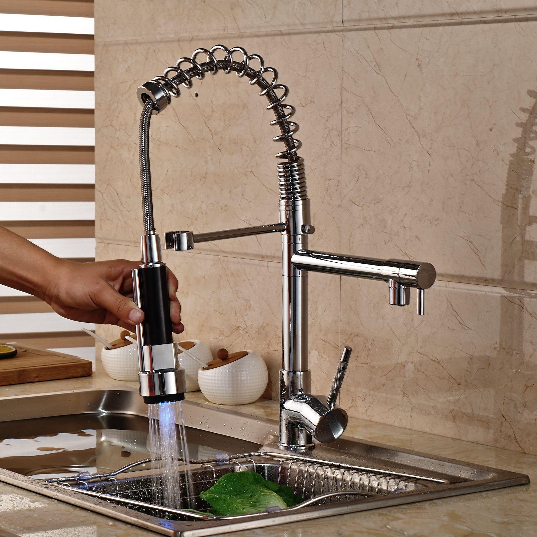 Venta caliente de lujo de latón cromado lavabo del baño grifo vanidad del fregadero mezclador grifo doble pulverizador sola manija