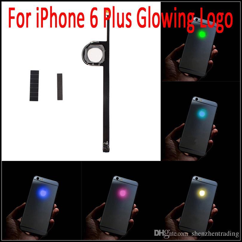 Для iPhone 6 Plus светящийся логотип люминесцентный светодиод загорается прозрачный логотип мод панель комплект для iphone6 Plus 5.5 дюймов бесплатная доставка