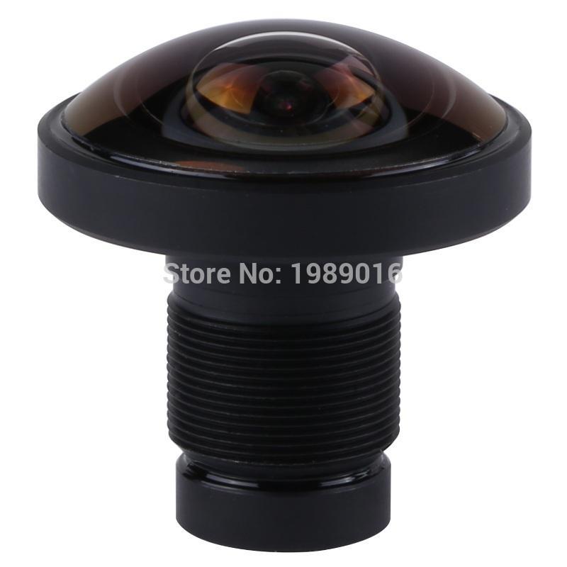 Freeshipping 1.2mm lente olho de peixe 220 graus ir 1 / 2.3 polegada 16mp m12 mount para 360 vr ir pro câmera
