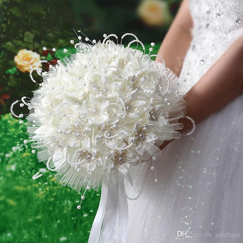 Bouquet Da Sposa Bianco.Acquista Bellissimo Bouquet Da Sposa Bianco Damigella Donore Da