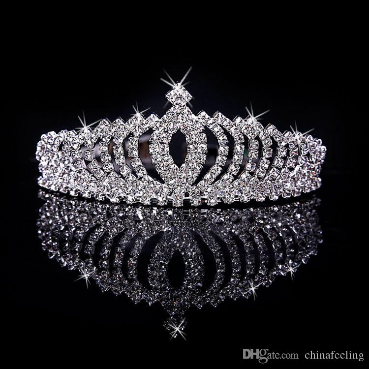 Best Wedding Jewelry Rhinestone Tiara Crown Crystal Crown With Comb