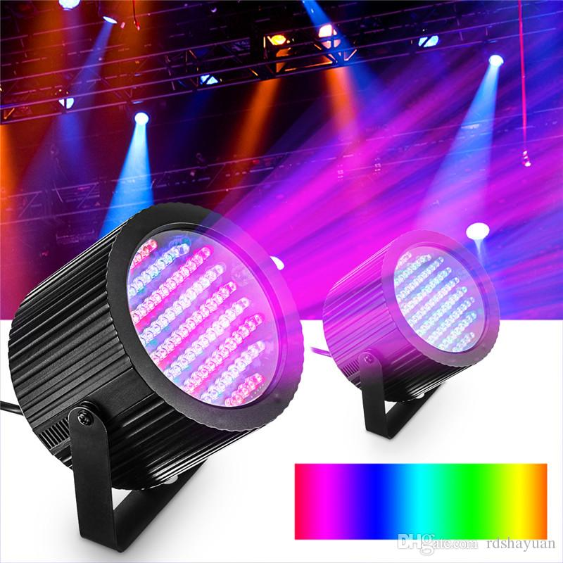 1 Pair Disco Party DJ 86 LED DMX RGB Stage Effect Light Club Bar Strobe Magic Lamp Automated And Sound Activated Programs
