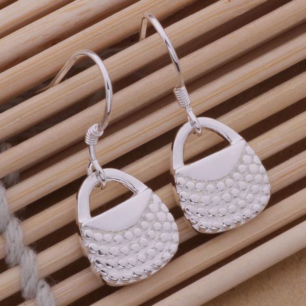 Мода (производитель ювелирных изделий) 40 шт много сумочка серьги стерлингового серебра 925 ювелирный завод мода блеск серьги