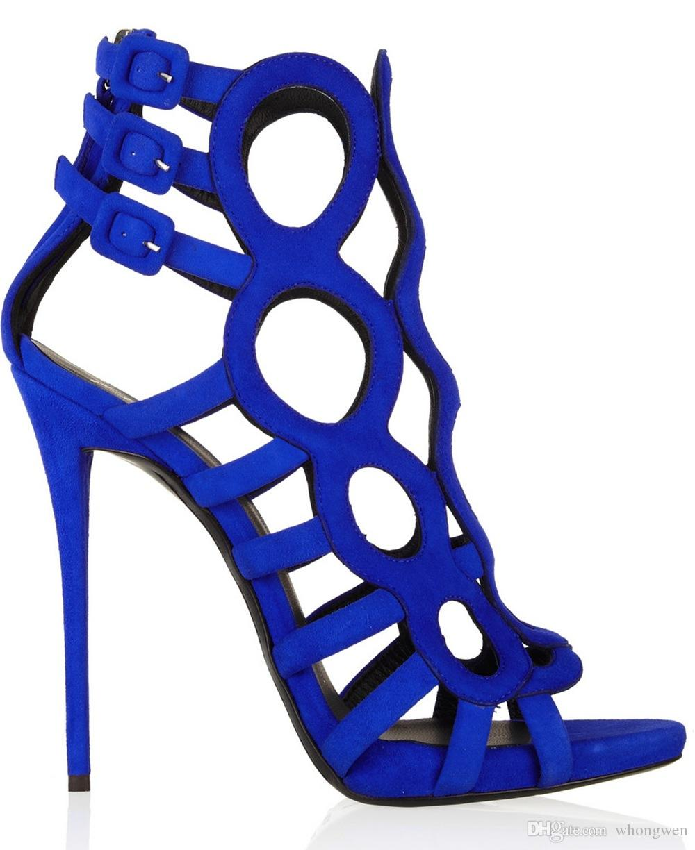 Cheap 2016 Newest Blue Black Evening Party Wedding Shoe High Heels