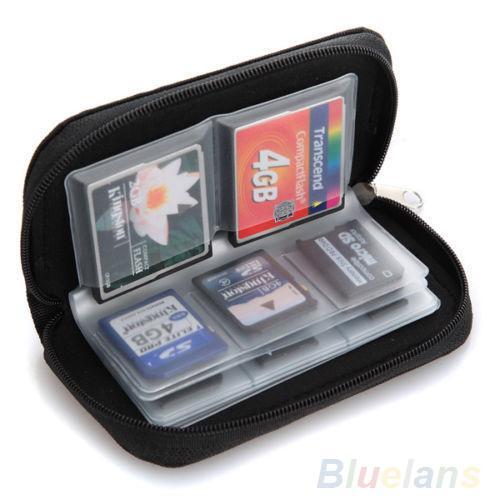 Черный SD SDHC MMC CF Micro SD карты памяти для хранения сумка Сумка чехол держатель бумажник 08N8